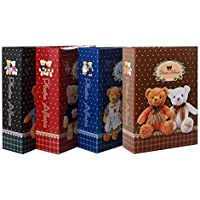 in Blue Teddy Bear Photo Album 200/Photos 10/x 15/cm Size: 17.9x25.7/cm Printed Paper also available in beige and Green