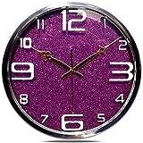 Orologio da parete muto Grandi orologi al quarzo fai-da-te, struttura in metallo con copertura in vetro a parete dell'obiettivo, orologio silenzioso antigraffio Secondi secondi (colore: 3 #, dime