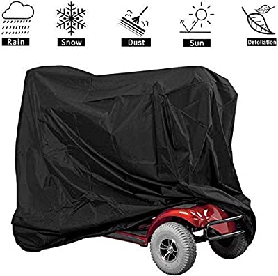 GLJY Large Mobility Scooter Cover, Mobility Scooter Cover Waterproof, Scooter Storage Cover All-Weather Outdoor Protection Fits Most Disability Scooters