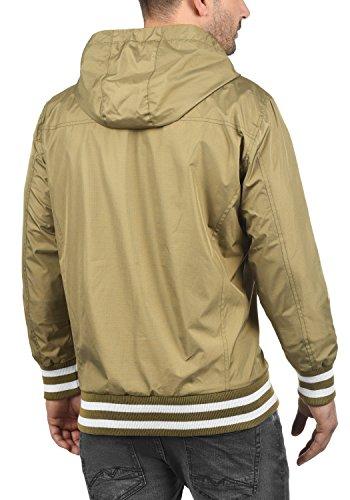 BLEND Novan Herren Übergangsjacke Jacke mit Kapuze aus winddichter und hochwertiger Materialqualität Safari Brown (75115)
