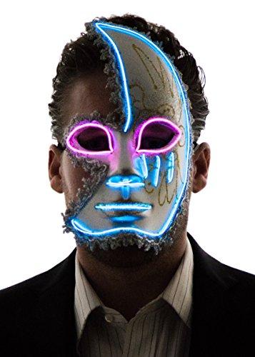 Neon Nightlife Herren Light Up Half Face Venetian -