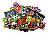 Heavenly Sweets - Gran Cesta Caramelo Americano Bala/Chocolate/Wonka/Nerds Navidad/Regalo Cumpleaños – En una Caja de Cartón Imitación de Mimbre