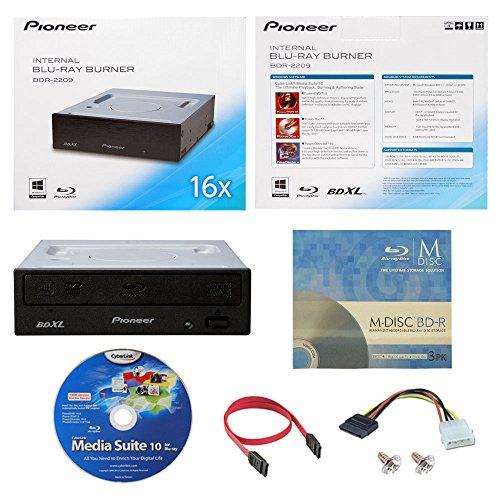 pioneer-bdr-2209-16x-interno-blu-ray-bdxl-dvd-cd-burner-writer-in-scatola-al-minuto-con-3pk-gratis-m
