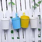 Teabelle Balkon Blumen Topf Zum Aufhängen Garten Metall Eisen Pflanzgefäß Home Decor praktisch Weiß