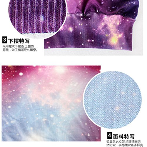 THENICE Femme manches longues Sweat-shirts Star Sky