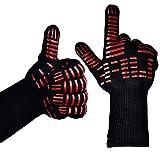 TTLIFE 2 guanti da cucina- Guanti da forno estremamente resistenti contro il calore fino a 932°F (500°C) lungo - per la griglia, la cottura e il barbecue(1 paio)