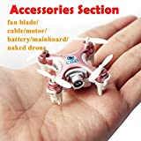 Generic Shell Cover Set : Free Ship Cheerson Drone CX-10 Part Propeller Fan Blade/Battery/Cable/Shell Cover Set/Protection Cover RC Helicopter Accessories