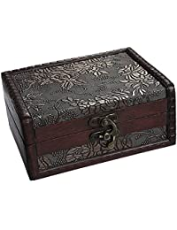TOOGOO(R) Treasure Box Treasure Chest for Gift Box,Cards Collection,Gifts and Home Decor