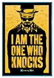 Close Up Breaking Bad Poster I am The one who Knocks (94x63,5 cm) gerahmt in: Rahmen türkis