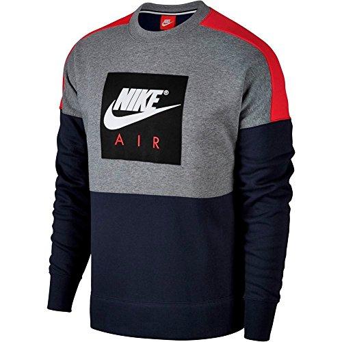 Nike Sweatshirt – Sportswear Air schwarz/rot/weiß Größe: XL (X-Large) (Air Pullover)
