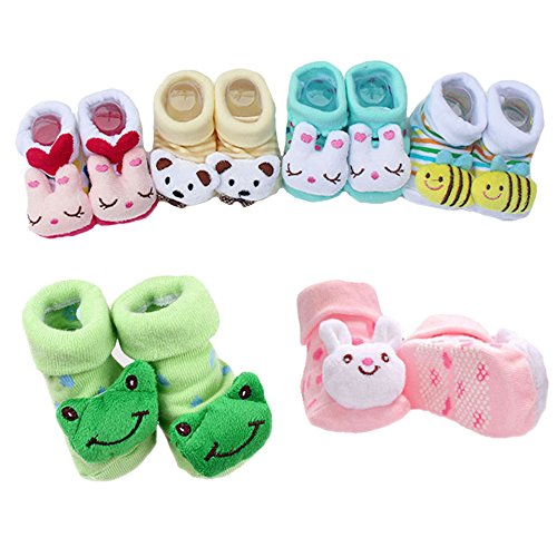 HOME CUBE® Born Baby Fancy Cartoon Face Socks cum Shoes ( Random Design / Color ) Set Of 1 Pair