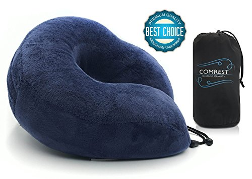 comrest-travel-pillow-soft-memory-foam-neck-support-flight-neck-pain-relief-with-drawstring-storage-