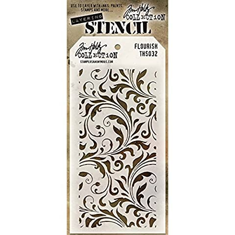 Stampers Anonymous Tim Holtz Pochoirs Motif floral