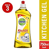 Dettol Kitchen Gel - 750 ml (Lemon, Pack of 3)