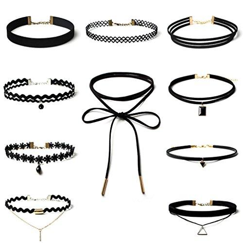 oker Halskette für Frauen Mädchen, Klassische Samt Stretch Gothic Tattoo Spitze Halskette (Benutzerdefinierte Handy Fällen)