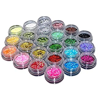 Cascove 24 Loose GLITTER Eyeshadow Eye shadow Face Body Painting Paint Craft Nail Art