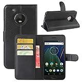 HualuBro Moto G5 Plus Case, Premium PU Leather Wallet Flip