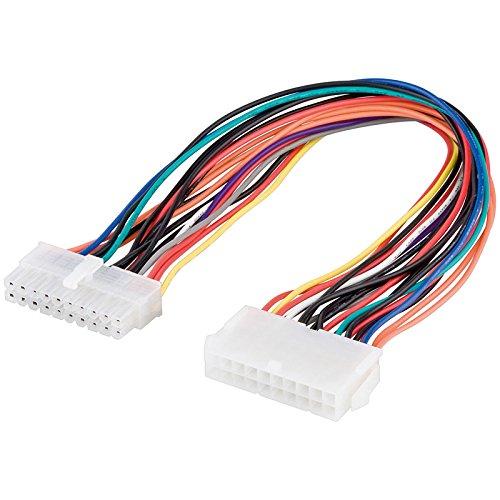 SM-PC®, 30cm Mainboard ATX Verlängerung Stromverlängerungskabel - 20 Pin Stecker auf 20 Pin Buchse #091