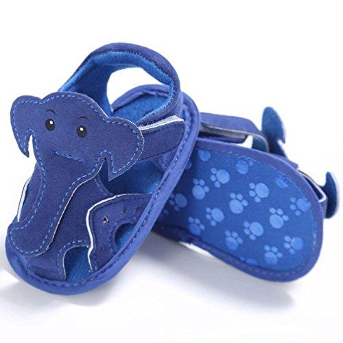 Saingace Baby Säuglingskind-Mädchenjungen-weiche alleinige Krippe-Kleinkind-Neugeborene Sandelholz-Schuhe Blau