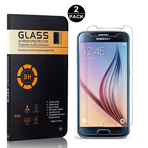 Bear Village® Galaxy S6 Displayschutzfolie, 9H Härtegrad Displayschutz, Keine Luftblasen, 3D Touch Schutzfilm aus Gehärtetem Glas für Samsung Galaxy S6, 2 Stück