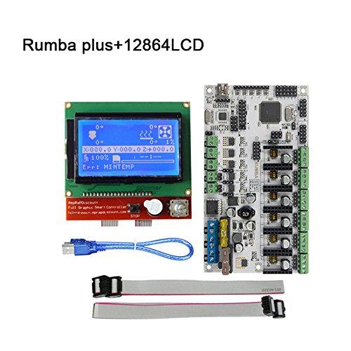 Majome Rumba Plus 3D Drucker Start Kits Hauptplatine + 12864 LCD Display mit Kabel Teil Kit Lcd-kabel-kit