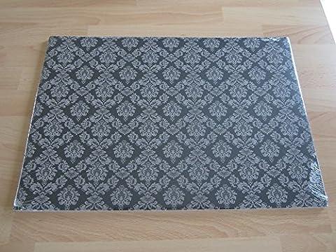 Gothique Papier Noir Sets de table (Lot de 100)