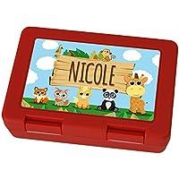 Brotdose mit Namen Nicole - Motiv Zoo, Lunchbox mit Namen, Frühstücksdose Kunststoff lebensmittelecht preisvergleich bei kinderzimmerdekopreise.eu