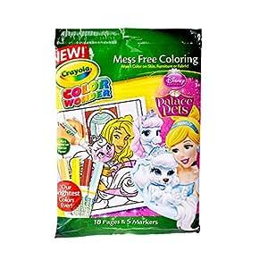 Crayola Mess Free Color Wonder Disney Princess Markers & Coloring ...