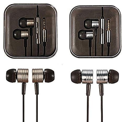 Mycs pour iPhone Samsung 3,5mm Piston Écouteurs stéréo intra-auriculaires Écouteurs casque