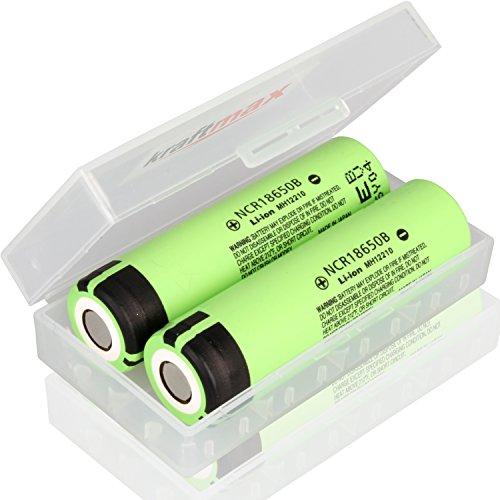 Amazon.de - 2pcs 18650 Li-Ion 3.7V 3400mAh Rechargeable Lithium Batteries