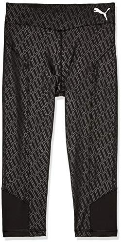 PUMA Mädchen A.C.E. AOP 3/4 Leggings G Sporthose, Black, 140