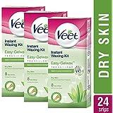 Veet Full Body Waxing Kit For Dry Skin - 8 Strips (Pack Of 3)