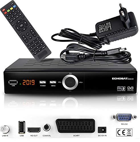 Oferta de hd-line Receptor de satélite Digital Echosat 20900 M (HDTV, DVB-S/S2, HDMI, SCART, 2 Puertos USB 2.0, Full HD 1080p) [preprogramado para Astra, Hotbird, Türksat] Sencillo Echosat 20900 M Echosat 20900