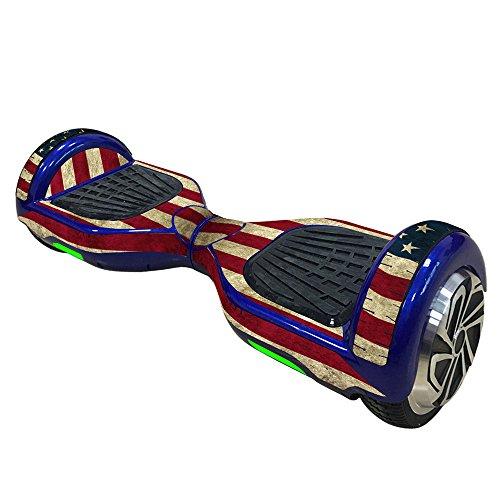 Vococal® Haut Cover Aufkleber für 6,5 Zoll Smart Selbstausgleich Roller Board Hoverboard, die Amerikanische Flagge Stil