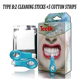 LoveVV Nano Teeth Whitening Kit Tools Teeth Whitener Pinsel Tooth Stains Gel Strips Smoke Teeth Tools Kit,B