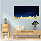 Canvas Painting Christmas Birthday Unique Gift Gold foil Painting -60x120cm No Frame