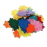 D DOLITY 100 Blumen aus Filz Bastelmaterial aus Filz Streuteile Tischdeko - Multi7