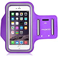 MoKo Sports Armband for iPhone 6s Plus / iPhone 6 Plus, Samsung Galaxy Note 5 / S6 edge+, Droid Turbo and LG G4 / G3, Card Slot, Sweat-proof, Morado (Size L ...