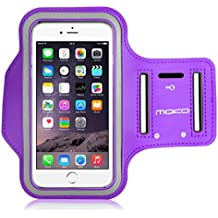 MoKo Sports Armband for iPhone 6s Plus / iPhone 6 Plus, Samsung Galaxy Note 5 / S6 edge+, Droid Turbo and LG G4 / G3, Card Slot, Sweat-proof, PURPLE (Size L, Compatible with Cellphones up to 5.7 Inch)