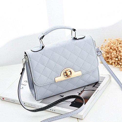 Frauen kleine quadratische Retro Crossbody Tasche Handtasche Schultertasche PU einfarbig ( Color : 2 ) (Leuchtend Rosa Wickeltasche)