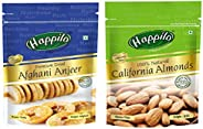 HappiloPremium Californian Roasted and Salted Pistachios, 200g + Happilo100% Natural Premium Californian Alm