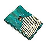 HshDUti Piano à Pouce 17 Doigts Kalimba Mbira, Cadeau Instrument de Musique en Bois Papillon Blue
