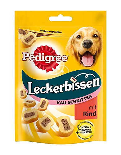 Pedigree Leckerbissen Kau-Schnitten Hundesnacks, 6 Beutel (6 x 155 g) -