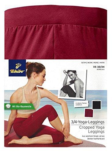 TCM Tchibo 3/4 Yoga Leggings bordeaux (40/42 M) (Leggings Hosen Doodle)