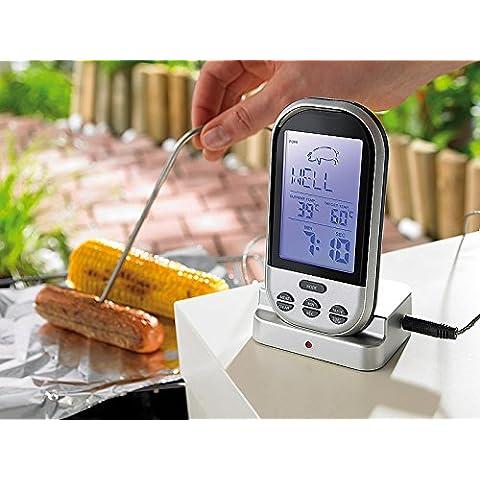 Pro Termómetro Radio Digital Barbacoa Termómetro para carne temperatura Identificar