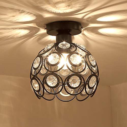 TAOtTAO Moderne Deckenbeleuchtung Flushmount Light Fixture für Schlafzimmer Badezimmer Retro-Korridorgang-Veranda-Balkondeckenlampe des Schmiedeeisens (Rustikale Steckdosen-abdeckungen)
