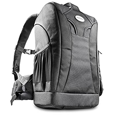 Mantona SLR Camera Backpack for Trekking (Black, rain cover, tripod holder, rear opening) - camera-backpacks