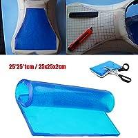 Alfombrilla de gel para asiento de motocicleta, absorción de golpes, cojín suave, color
