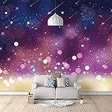 Carta da Parati Fotografica Pioggia di meteoriti Adesivi per carta da parati in 3D Murale di seta Camera da letto soggiorno cucine Wall Art Decor Poster 300x210cm