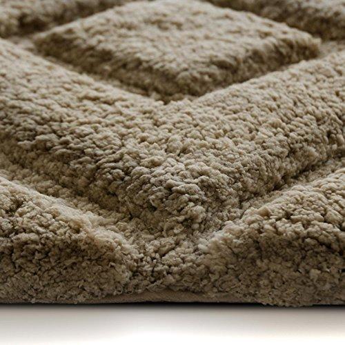 Tapis de bain de luxe casa pura® marron clair | très épais, doux ...